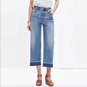 Madewell Wide Leg Crop Jeans size 24